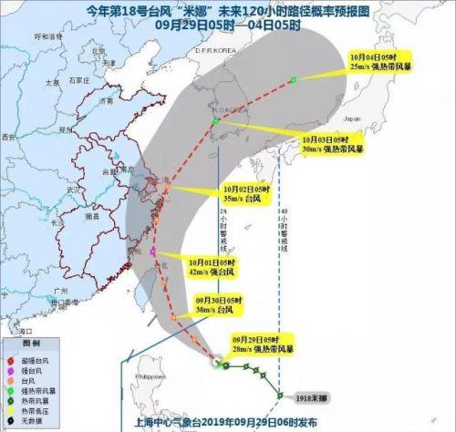 台风米娜最新实时路我径曝光 台风米娜会在哪里登陆 2019台风最新消息