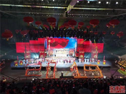 晚会现场高潮迭起,充满传统¤文化元素。 东南网记者张立庆 摄