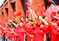 全国大中小学师生同唱一首歌 祝福新中国