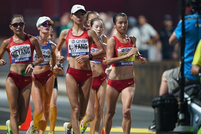 女子20公里竞走中国包揽前三 刘虹第二次夺冠