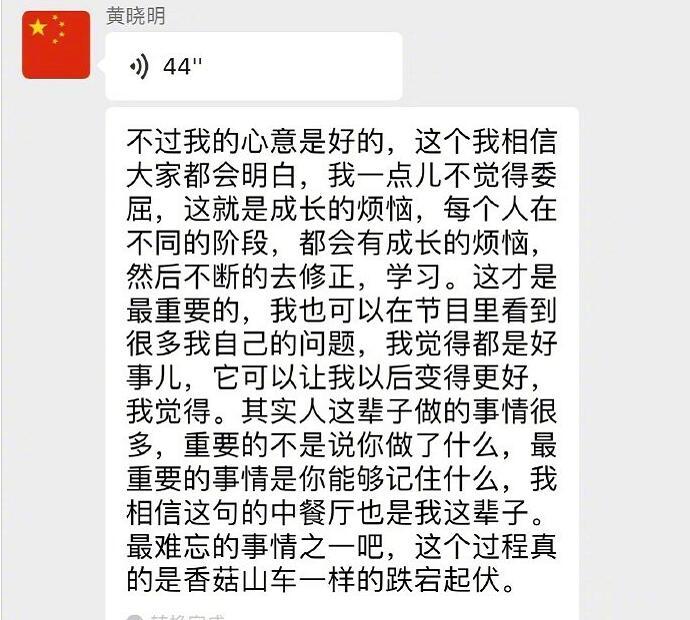 黄晓明回应背锅