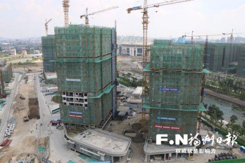 福州濱海新城人才公寓建設國慶期間持續推進