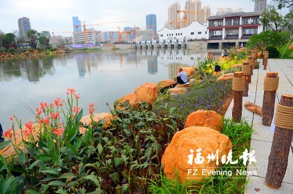 福州光明港公园景观升级 听潮漫步更惬意