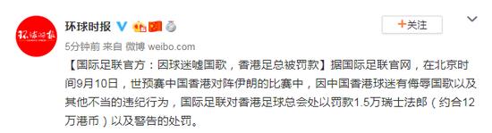 香港足总被罚款怎么回事 香港足总被罚款原因事件始末