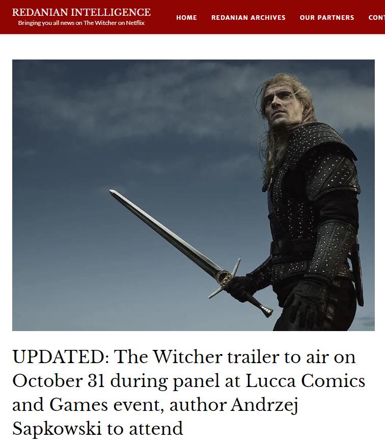 Netflix《巫师》美剧将在月末公布全新预告片