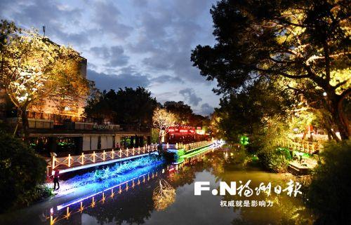 福州白马河1.7公里夜游示范段月底展新颜