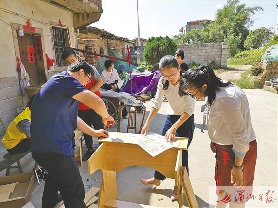 莆田市民政部门入户帮留守(困境)儿童改善学习环境