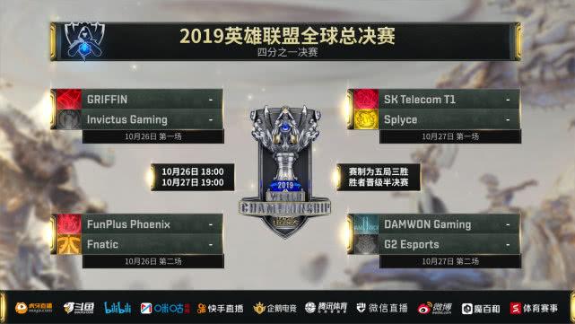 英雄联盟S9八强赛队伍名单阵容公布 S9八强比赛时间几月几日