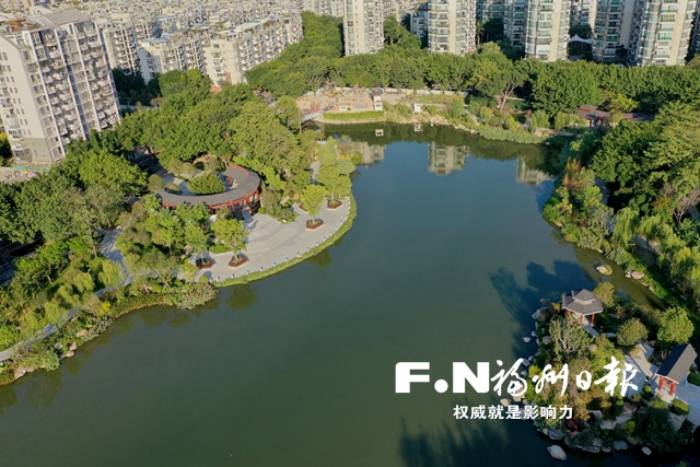 古典+海绵,绿廊更添彩!福州浦东河水上公园段本月建成