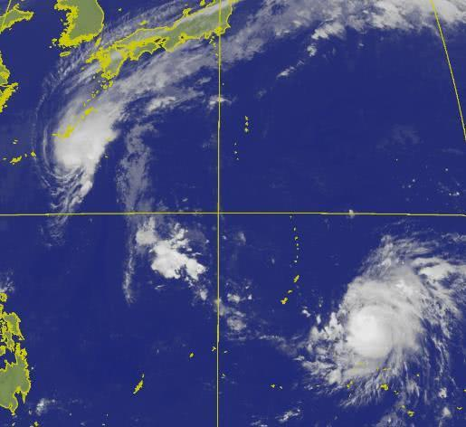 """台风再登陆日本 21号台风""""博罗依""""生成""""浣熊""""加强为强台风级 台风路径实时发布系统图更新"""