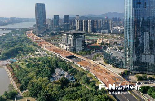 福州江滨西大道祥坂段下穿通道上盖全面动工 春节前或建成开放