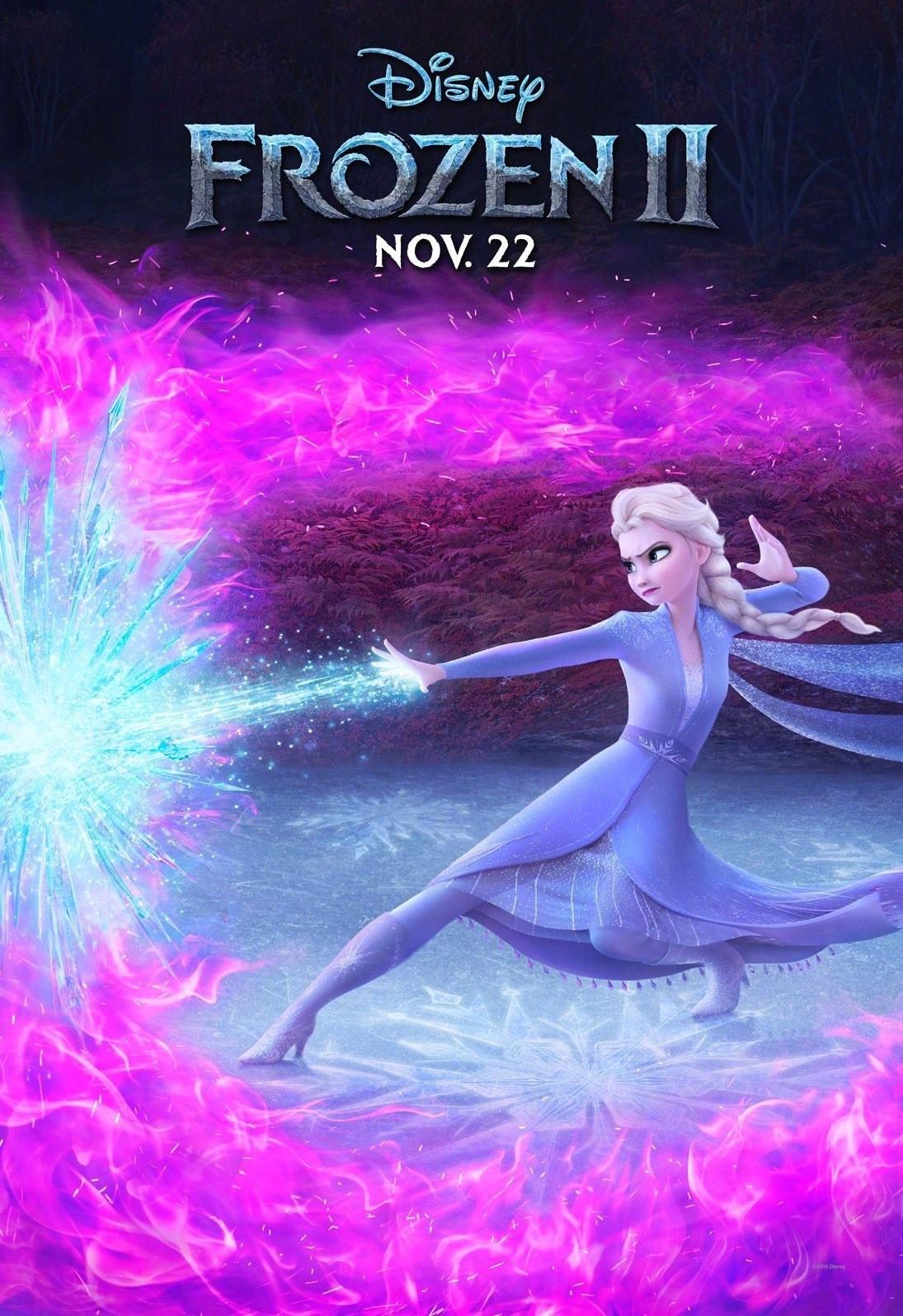《冰雪奇缘2》最新预告 艾莎在湖边放炫酷大招
