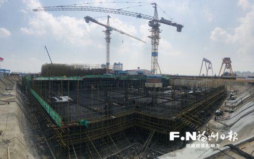 福州濱海新城新投商務中心加快建設 預計明年6月封頂