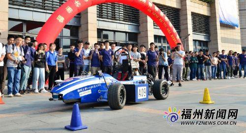 福州大學推出福建首輛大學生無人駕駛方程式賽車