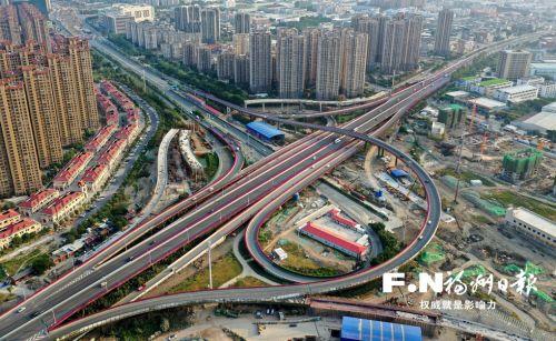 福州二環林浦互通2條新匝道春節前建成