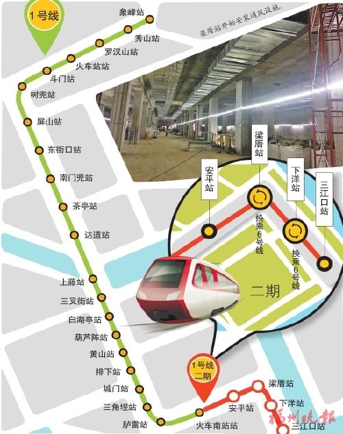 """福州地铁1号线二期 提前近两月全线""""洞通"""""""