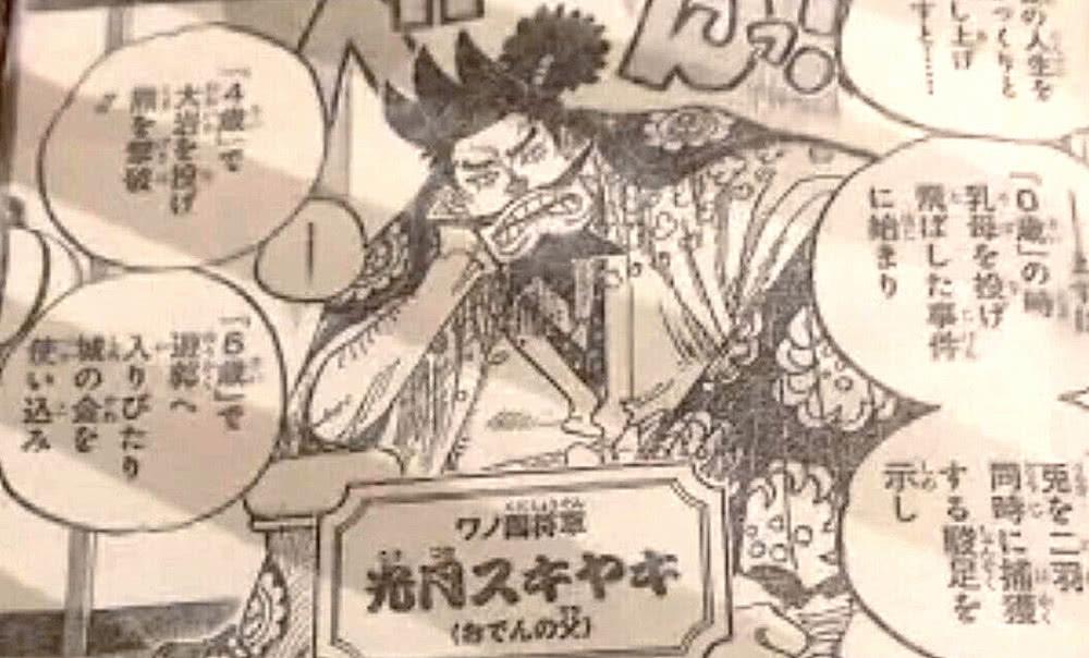 海賊王漫畫960:御田終于露臉!光月御田奇葩登場!難怪讓國民又愛又恨!鶴驚艷眾人