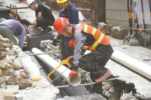 寧德雨污分流改造三期六小項目正在抓緊施工