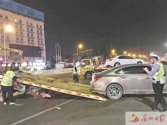莆田城廂交警:不到1小時,15輛違停汽車被拖離