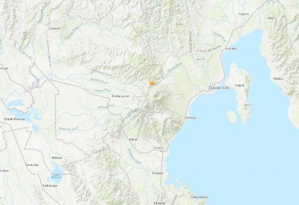 菲律宾棉兰老岛发生6.8级地震震源深度22公里