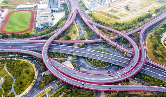 驚艷!福州這一高架橋刷屏朋友圈!一路繁花相送