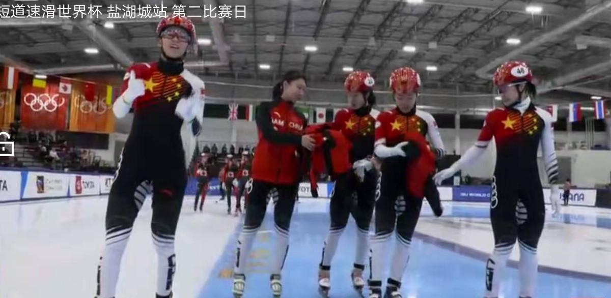短道速滑中國女子接力奪冠 成績4分08秒746