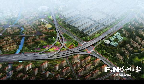 福州白湖亭立交新增4條匝道讓二環快速閉合 明年啟動建設
