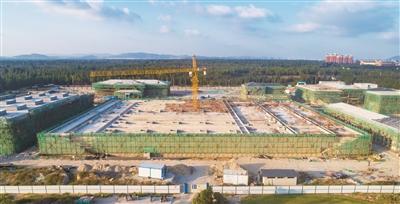 平潭竹屿再生水厂一期14栋单体建筑全部封顶