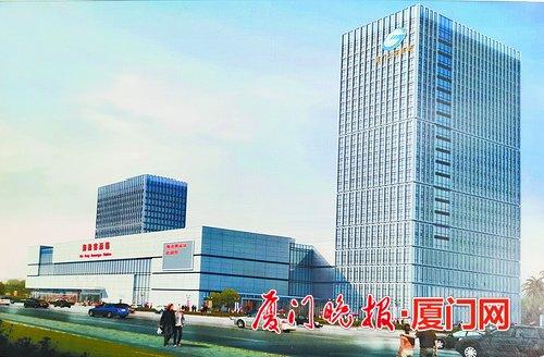 厦门海沧新城综合交通枢纽工程封顶