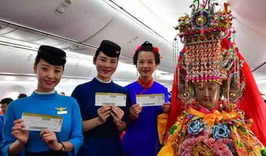 妈祖也坐经济舱:中国海上女神首赴泰国巡安交流
