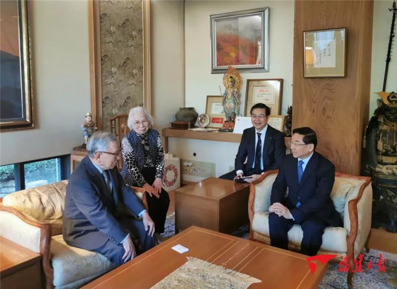 于伟国率省代表团在日本访问 推进高质量交流合作