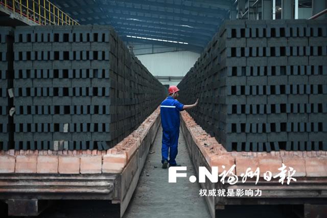 福州首个渣土资源化利用项目年产1.2亿块环保烧结砖