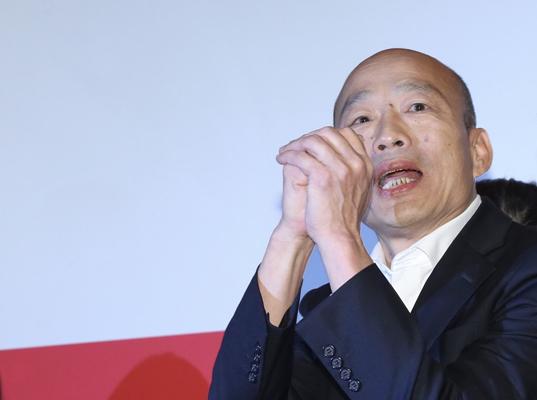 """韓國瑜呼吁支持者:接到民調電話說""""唯一支持蔡英文"""""""