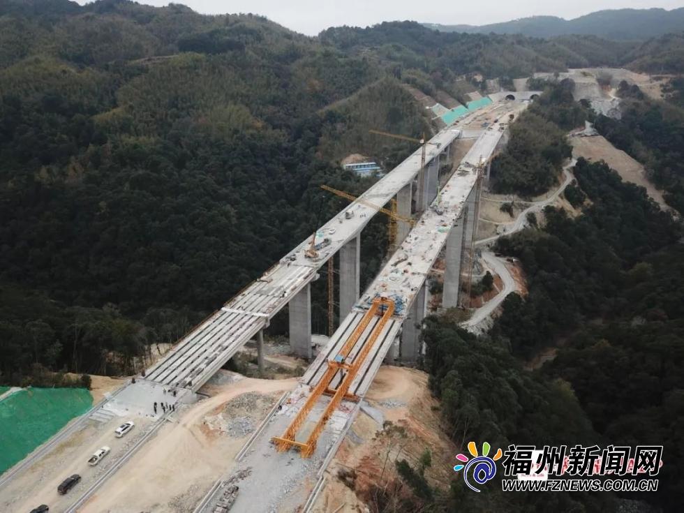 好消息!莆炎高速福州段全线贯通 像两道飞虹