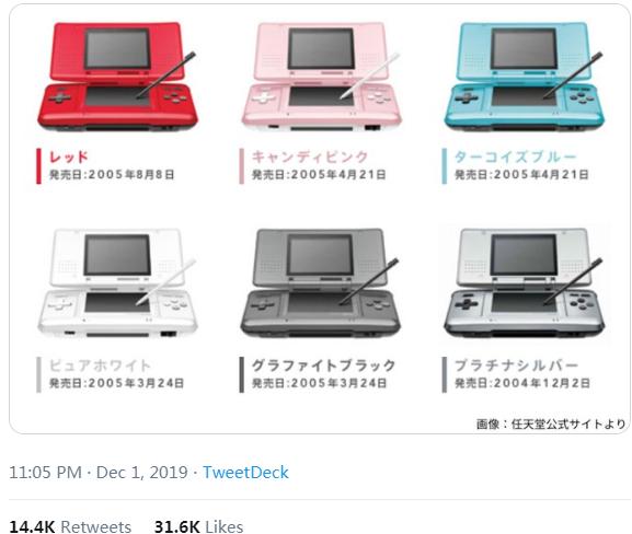 继PS2成为史上第2畅销游戏机 任天堂DS走过15年