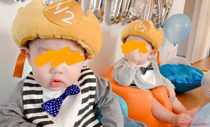 苍井空双胞胎儿子照片