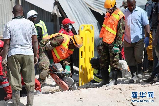 (国际)(1)肯尼亚首都发生楼房倒塌事件造成5人死亡