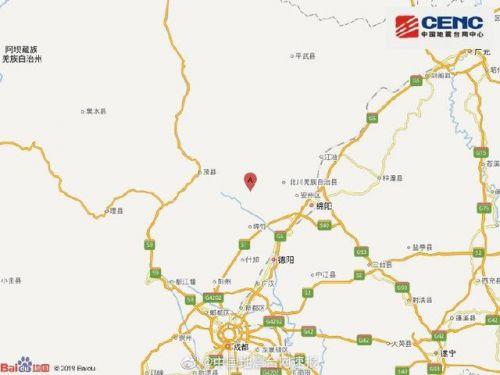 四川绵阳4.5级地震什么情况 绵阳安州区附近发生4.5级左右地震