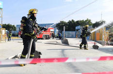泉州举行建筑施工消防安全事故应急救援演练