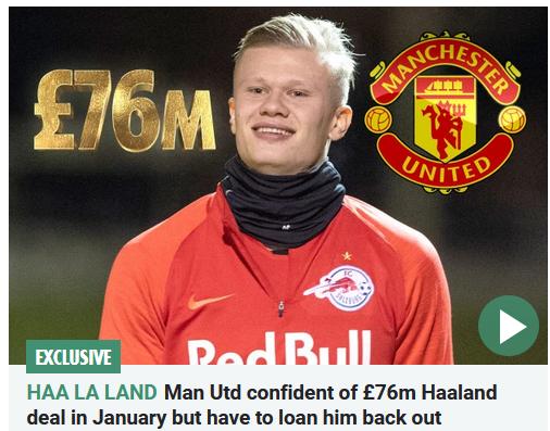 曼联自信冬窗7600万抢下欧洲红星 索帅就想买他
