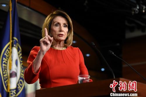 美国国会众议院议长、民主党人佩洛西。<a target='_blank' href='http://www.chinanews.com/'>中新社</a>记者 陈孟统 摄