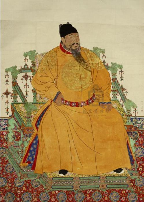 明成祖朱棣像轴(来源:故宫博物院)