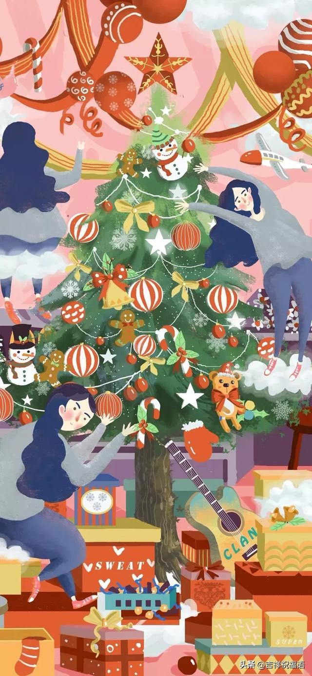 圣诞节简短祝福语图片