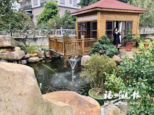 洪水金家的庭院。