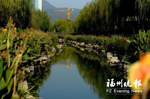 潘墩河水清河美。福州晚报记者 石美祥 摄
