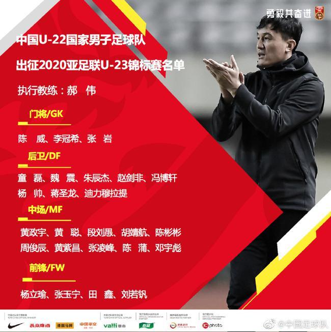 国奥发布奥预赛名单:张玉宁入围 林良铭等落选