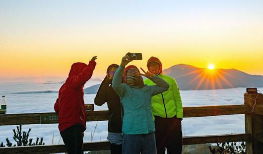 德化九仙山:游客登極迎新年日出