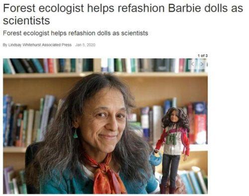 芭比娃娃不穿华服改当科学家 创意灵感来自她