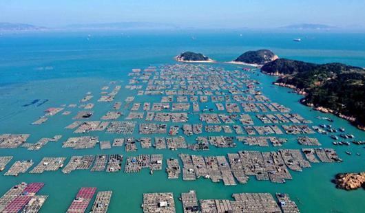 """福建连江:东洛岛海域上的""""海上村庄"""""""