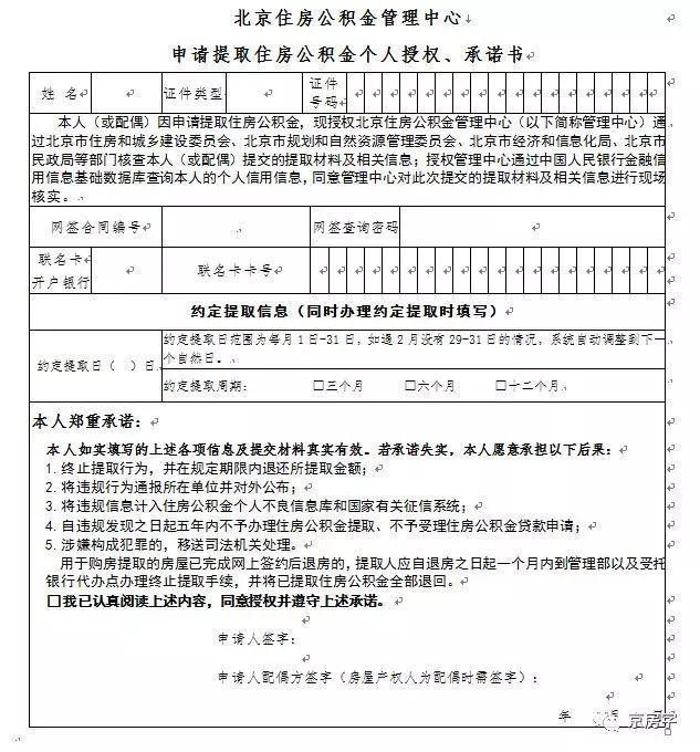 北京今起买房可自提公积金 一两个工作日到账